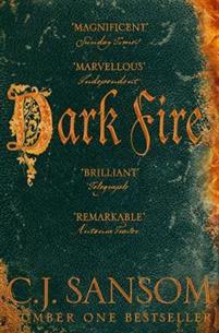 Bokomslag: Dark Fire, Matthew Shardlake-serien #2, av C. J. Sansom, krimserie